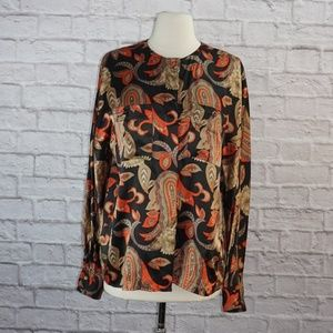 Saks Fifth Avenue Silk Floral Paisley Blouse